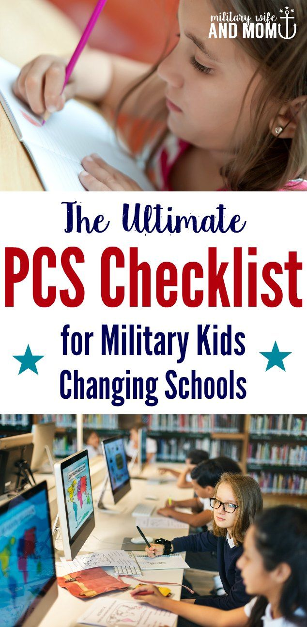 Grab a free printable PCS checklist for changing schools with military kids. Learn step-by-step what military families need to know before moving kids to a new school. via @lauren9098