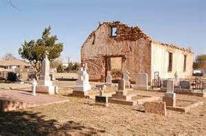 The Original St. Rose church in Santa Rosa NM