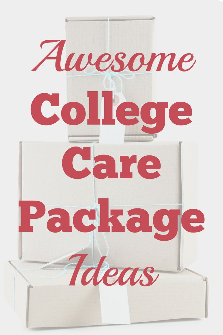 Great Ideas for College Care packages. Semester finals, Halloween, Super Bowl, Beauty, First Apartment, Thanksgiving, any occasion