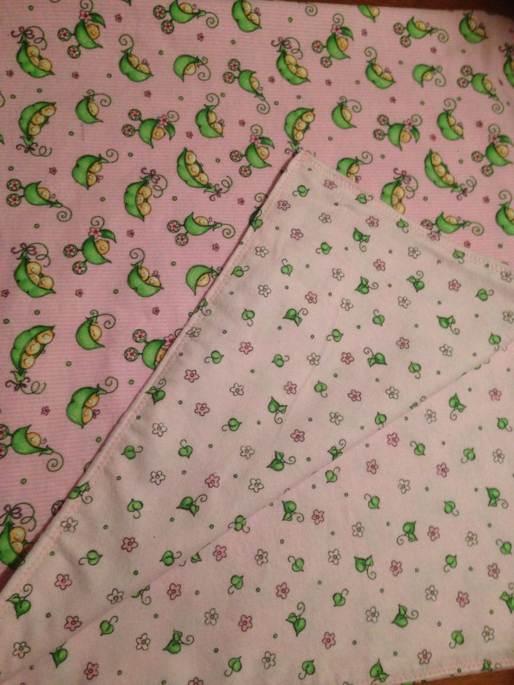 "Beautiful pink double sided blanket  ""peas in a pod"" design with themed backing in premium flannelette. $28 available from www.facebook.com/druberryblankets"