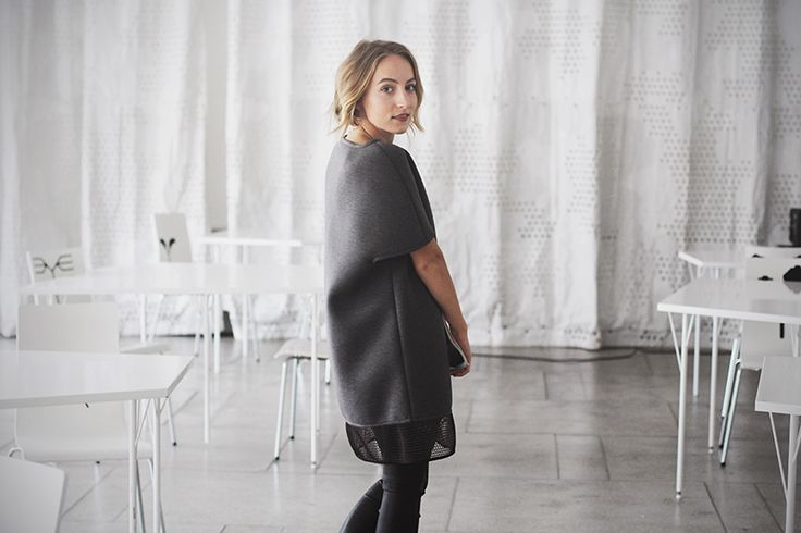 Gema aka @fashionframebyg wearing @disstrictclothes DEEP GREY DRESS // it gets addictive !