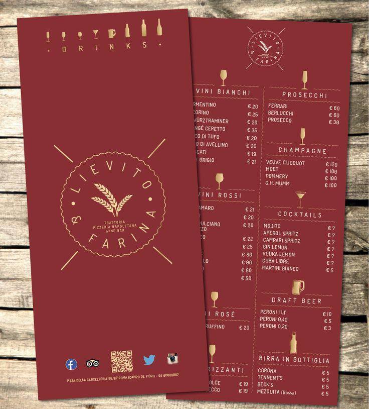 grafica e stampa - lista vini - lievito e farina