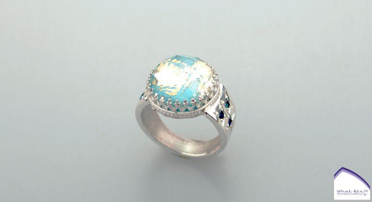 what-els-ring-zilver-goud-bergkristal-doublet-turkoois-saffier