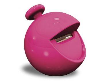 Dir geht viel durch den Kopf?   Schärfe deinen Bleistift und spitze die schlechten Gedanken einfach weg.  Wenn die Schnipsel aus meinem Mund fallen, bist du wieder zufrieden.   Eine scharfe Sache!  Krieg es spitz und lass [That Guy] die Reste ausspucken.   [That Guy] by SBooBS Bleistiftspitzer [Runde Sache], rosa