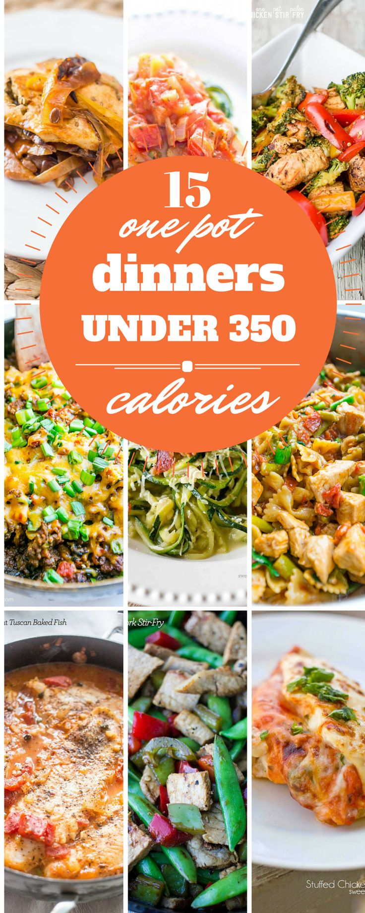 15 one pot dinners under 350 calories- rich, comforting, and easy meals that are family pleasers that won't derail your diet!