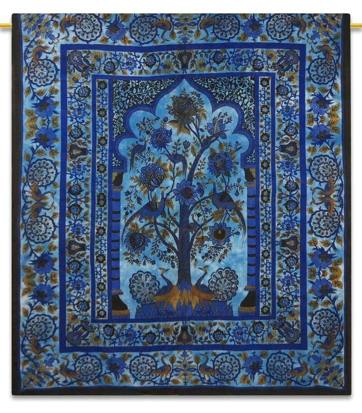 indien tapisserie murale boh me tree of life dorm room. Black Bedroom Furniture Sets. Home Design Ideas