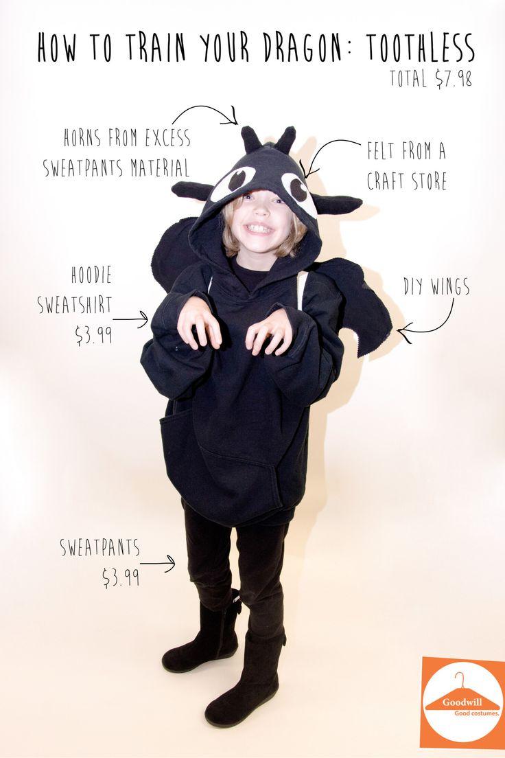 quick DIY Toothless costume