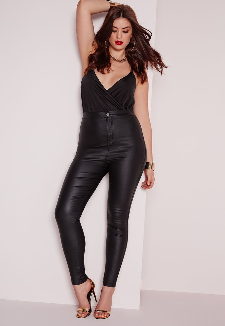 Leather look jeans. Could be a cheaper alternative to disco pants! - Missguided $52.50