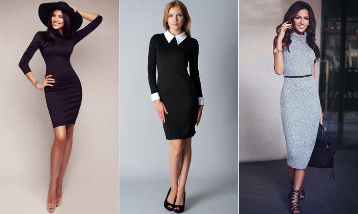 Элегантные облегающие платья из трикотажа