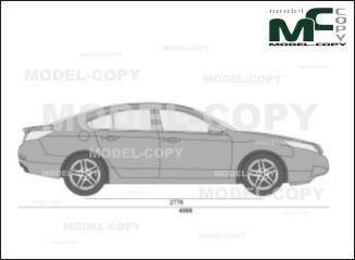 Acura TL SH-AWD Tech HPT (2010)  - drawing