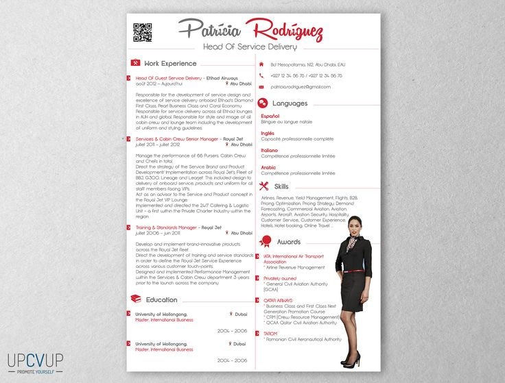 9 best Cabin Crew \/ Flight Attendant résumé templates - CV Word - air canada flight attendant sample resume