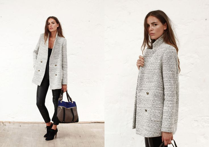 Fall collection 2013 by SÉZANE / SEZANE by Morgane Sezalory http://www.sezane.com  Bogart grey coat // Hunter boots // Phenix bag