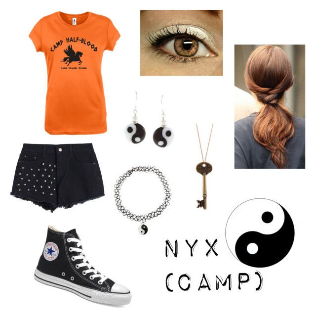 """Nyx's Camp outfit"" by balancewarlord ❤ liked on Polyvore featuring Victoria's Secret, Hot Topic and Charming Life"