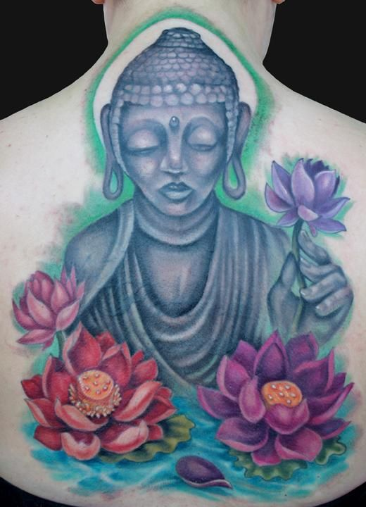 Buddha And Lotus Tattoo Tattoos | Body of Art | Pinterest