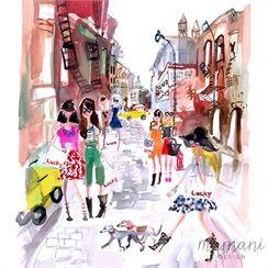 Illustration by commercial Live Art and Fashion Illustrator Martha Napier represented by leading international agency Illustration Ltd.   To view Martha's portfolio please visit http://www.illustrationweb.com/artists/MarthaNapier/view