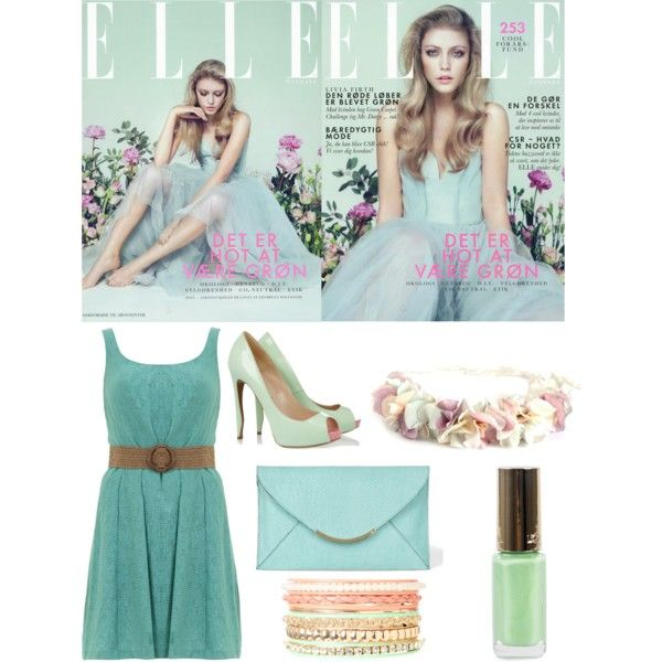 Green pastel sweetness by salsabilathamrin on Polyvore