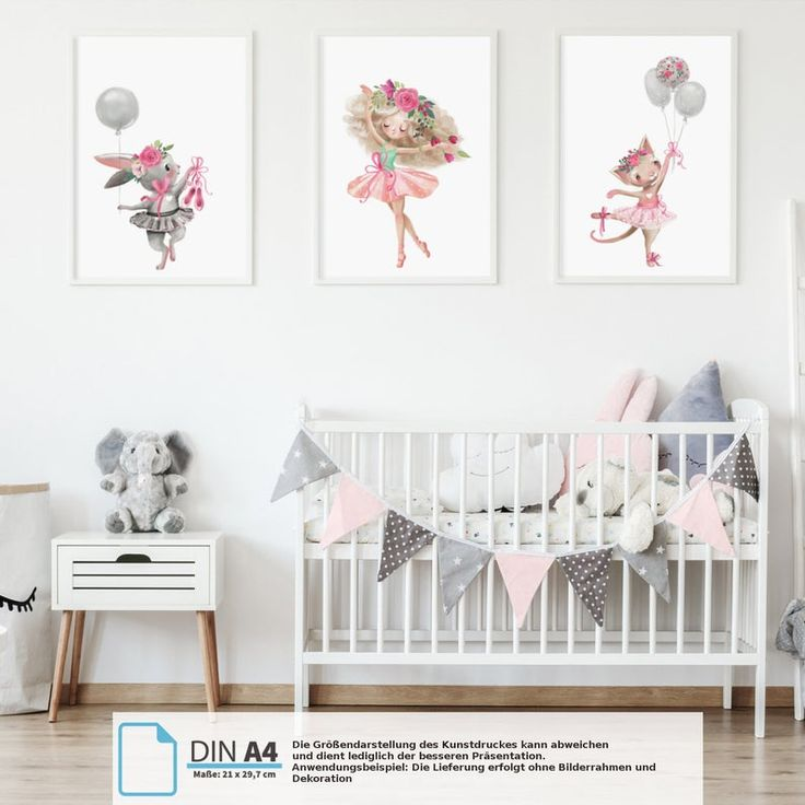 Pandawal Wanddeko Kinderzimmer Bilder Mädchen schöne Wand