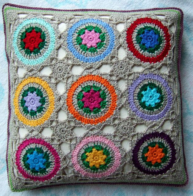 crochet pillow I rememer as a kid when my Mom and so many family members had these and I thought they were so ugly, now I would do anything to have some of those same ones.