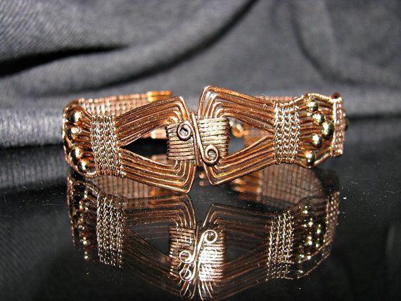 Filo intrecciato braccialetto di rame con di RoSanCustomJewelry