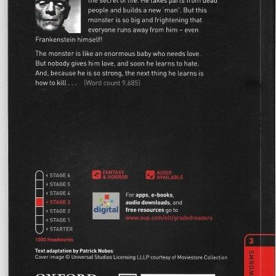 'Frankenstein' - a Stage 3 Reader - Victor Frankenstein thinks he has found the secret of life.