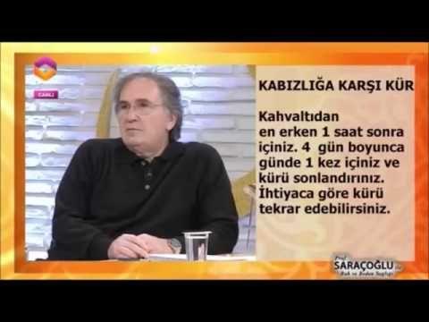 İbrahim Saraçoğlu Kabızlık Kürleri - YouTube