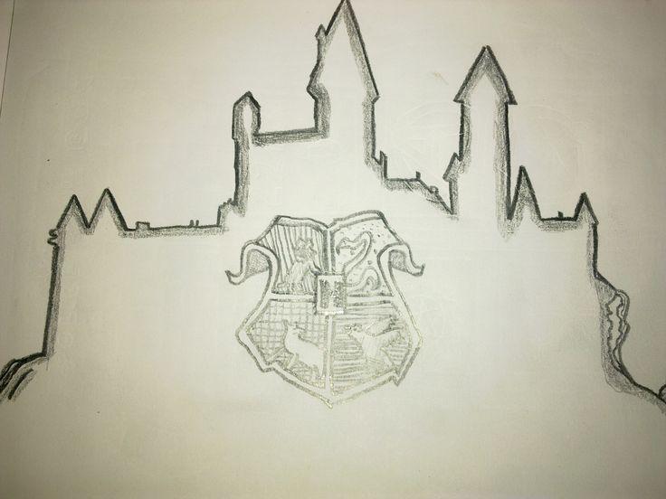 potter harry castle easy drawings drawing hogwarts line sketch stuff step dolls poter cartoon birthday getdrawings uploaded user