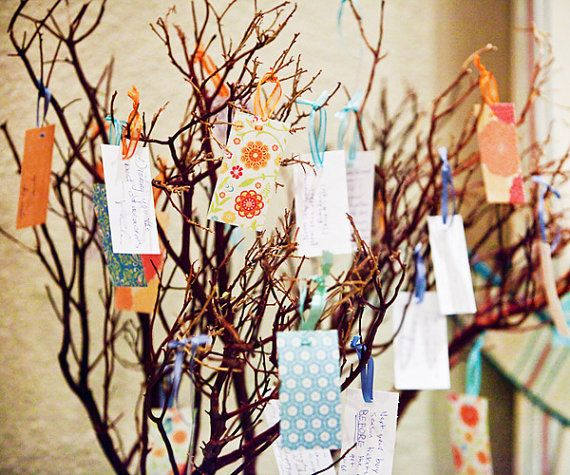 A wish tree for people to write their wishes to the bride and groom. From Rew Elliott Style.