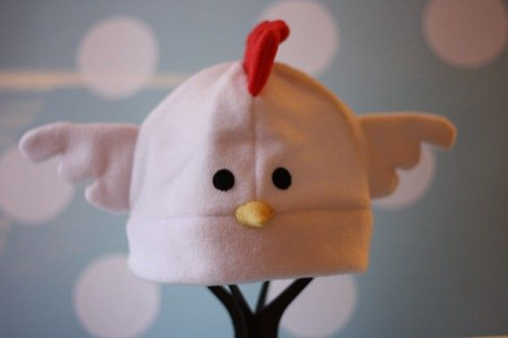 Leghorn Chicken Fleece Hat by HouseofHonore on Etsy, $30.00