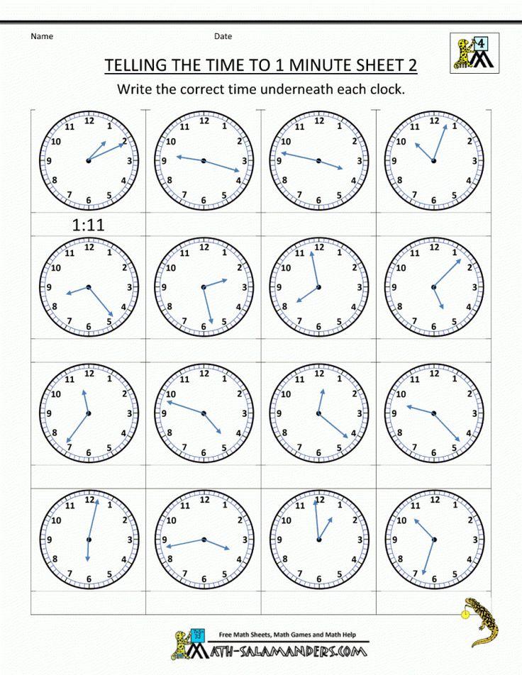 1st Grade Time Worksheets For Free Download. 1St Grade ...