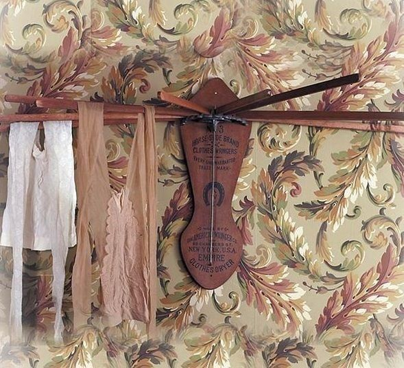 Vintage Inspired Wooden Clothes Wall Mounted Drying Rack
