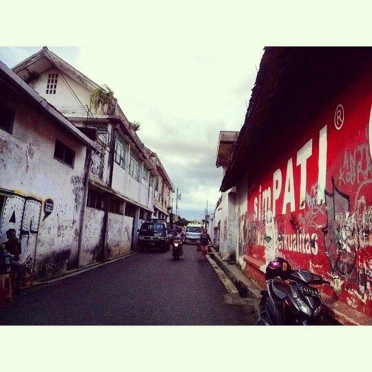 Salah satu sudut kota lama Purwokerto. Kauman Lama. Jawa Tengah. Indonesia.
