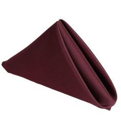 "17""x17"" BURGUNDY Wholesale Polyester Linen Napkins For Wedding Birthday Party Tableware - 5 PCS"