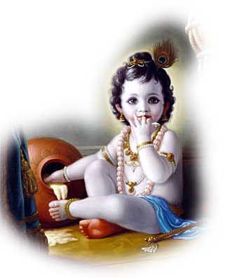 Indian Gods and Goddesses: Bal Goapala Krishna - Vrindavan - Gokul