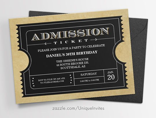 7 best ticket invitations images on pinterest ticket invitation ticket invitations customize for any movie or event theme party stopboris Images
