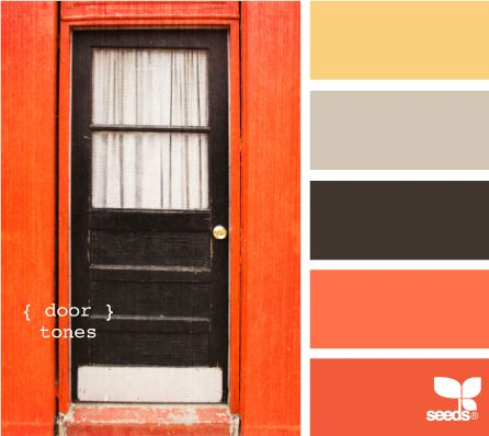 door tones, OSU tones: Colors Pallets, Colors Palettes Ds, Doors Colors Palettes, Design Seeds, Colors Schemes, Colour Palettes, Coral Color, Colors Inspiration, Doors Tones