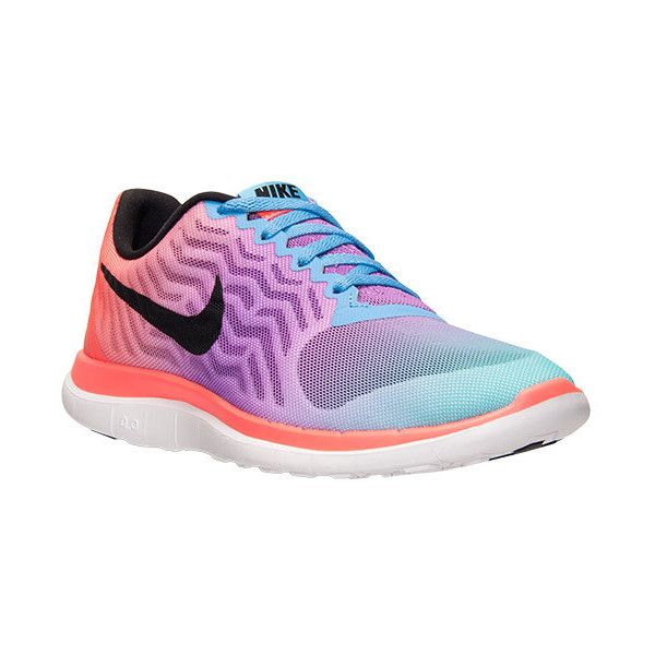 Women's Nike Free 4.0 V5 Print Running Shoes ($100) ❤ liked on Polyvore