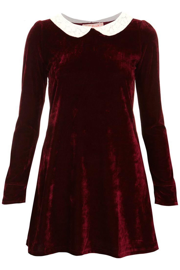 Velvet Peter Pan Dress by Oh My Love | £39.00 | Topshop  http://www.ebay.co.uk/sch/Dresses-/63861/i.html?_dcat=63861&Brand=TopShop&rt=nc&LH_BIN=1&clk_rvr_id=556459352049