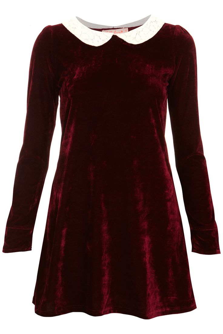 Velvet Peter Pan Dress by Oh My Love | £39.00 | Topshop  http://www.ebay.co.uk/sch/Dresses-/63861/i.html?_dcat=63861&Brand=TopShop&rt=nc&LH_BIN=1&clk_rvr_id=556459352049