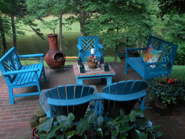 Painted Wood Patio Furniture best 25+ wooden patios ideas on pinterest | diy decks ideas, patio