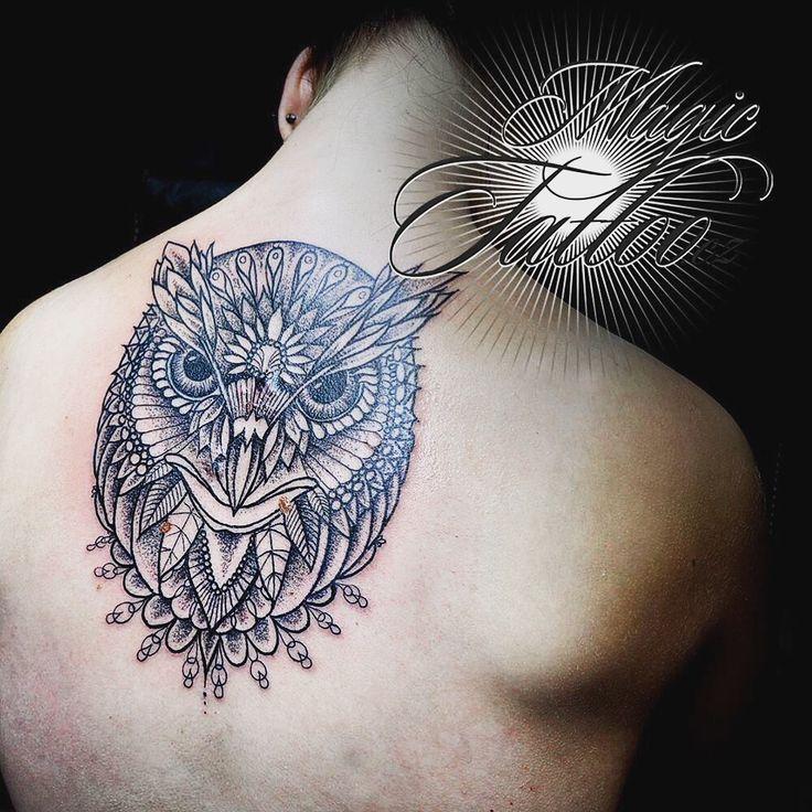 #dotwork #owl