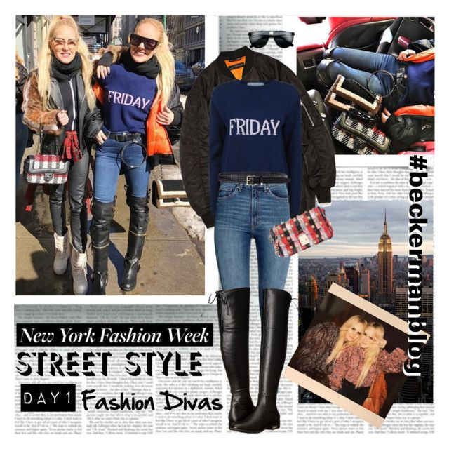New York Fashion Week Day1 Fashion Divas by stylepersonal on Polyvore featuring polyvore, fashion, style, Alberta Ferretti, GUESS, Mia Bag, Ralph Lauren, clothing, StreetStyle and NYFW