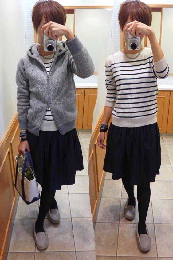 今日はMUJIを中心にベーシックカラーでナチュラルコーデ Jacket/Gymphlex. Knit/MUJI Bottoms/MUJI Bag/L.L.Bean Shoes/UGG Today is the natural style of gray and navy.