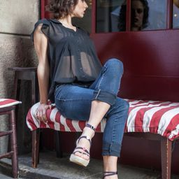 Our wedge heels look great with jeans