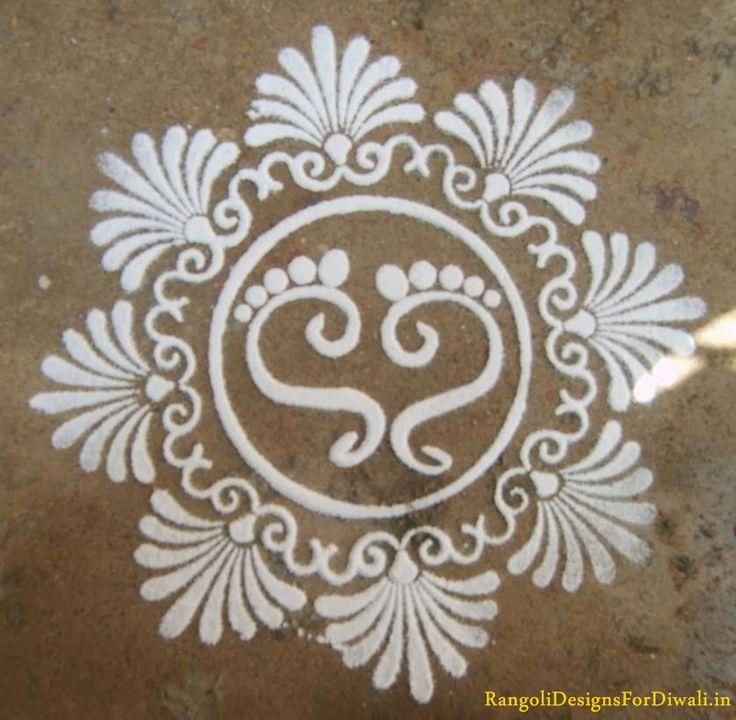 Decorative & Colorful Free Hand Rangoli Designs Patterns, Simple & Easy Hand Rangoli Art Designs Diwali 2015