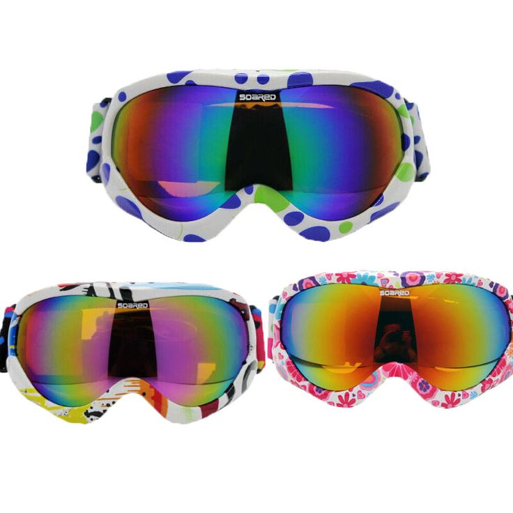 SOARED Winter Ski Goggles Kids Ski Glasses Double Anti-fog Large Spherical Lens for Boys and Girls With Box for 4- 14 Years