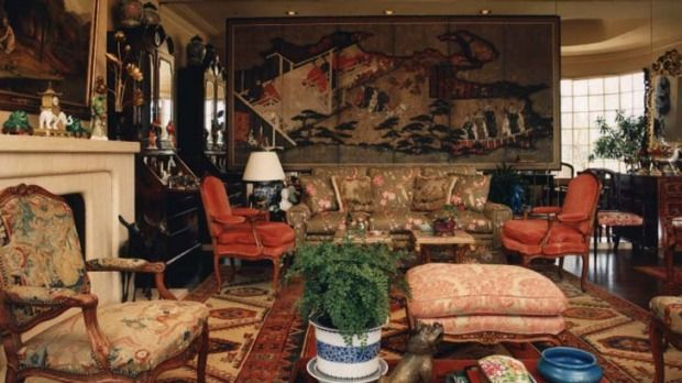 Wealth and style ... inside Leslie Walford's Double Bay house.