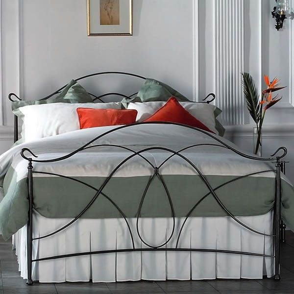 Ardno Cast Bed Head - Queen Size Pewter