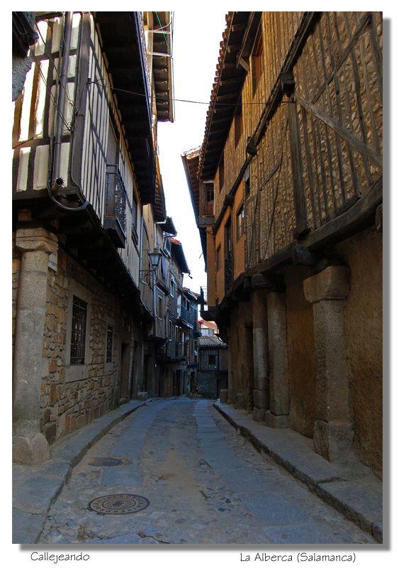 The streets of La Alberca , Salamanca   Spain