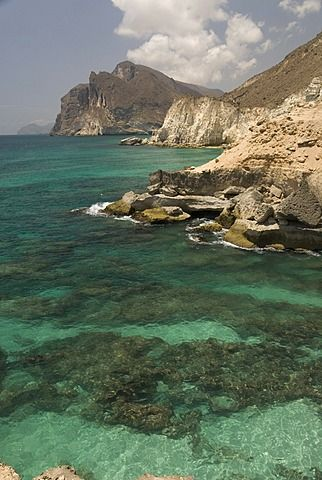 The limestone coast of southern Oman, Mughsayl, Salalah, Dhofar, Oman, Middle…