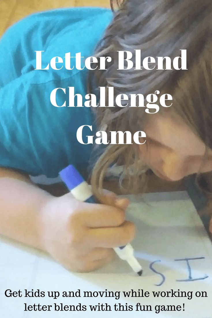 Letter Blend Challenge Game - Get kids up and moving while working on letter blends with this fun game!